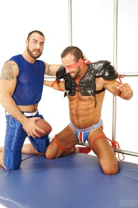 bondage gay porn nate karlton spencer reed bound jocks nasty pig jockstrap gay porn teasing torture bondage scruffy muscle bear masculine rough punching abs blowjob sucking rimming blindfold muscular football gear athletic hot