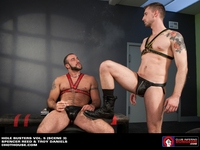 bondage gay sex spencer reed troy daniels leather jocks bondage gay