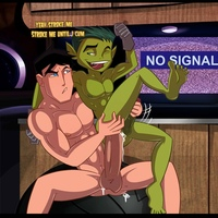 boy gay sex Pic com beast boy robin superboy cyborg