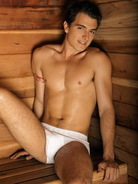 boy in jocks young lean jock ricky case soccer player sauna