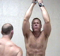 gallery of gay men plog bdsm mens bondage dungeon gay leather mans photos weekly men gallery suspended man suspension flogging
