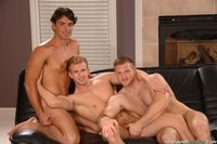 gay action pics muscle hunk trio cameron foster paul wagner jeremy bilding get nasty gay threeway threes cumpany next door buddies pic
