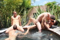 gay action pics galleries gthumb bathhousebait cameron adams outdoor bath pic