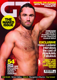 gay action pics sacha harding gay times front cover strips off elton john aids charity appeal