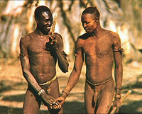 gay African guys nude hold hands