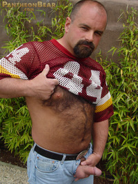 gay bear Pic porn dave pantheon bear hairy goatee sexy hot ass jockstrap cock ring football jersey beefy stocky gay porn paw tattoo boots jeans woof alert