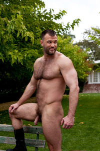 gay bear Pic porn aaron cage gay hardcore porn star muscle bear hairy huge pecs bottom ass jockstrap colt studio group gruff stuff brenden fucking sucking masculine truck stop