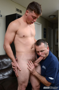 gay blowjob pic reed gets his gay blowjob cock buffet brought logan vaughns beefy ass landon conrads rock hard shaft stuffed deep inside