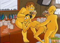 gay cartoon porn comics simpsons cartoon porno actions gay characters having fun