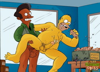 gay cartoon porn simpsons cartoon porno actions gay characters having fun