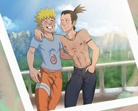 gay emo sex Picture shikamaru naruto shirtless muscle emo yaoi gay couple bare chest