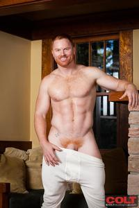 gay hairy hunks pics colt seth fornea hairy redheaded muscle hunk jerkoff amateur gay porn newest model redhead stud jerking off