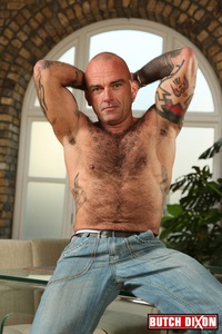 gay hairy man sex seth wilkins hairy muscled sexual macho man butch dixon ripped muscle bodybuilder strips naked strokes his hard cock photo gay bears