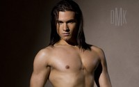 gay hunk men wallpapers men long hair abs pecs underwear hunk gay wallpaper