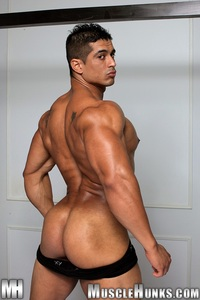 gay Latin porn stars pepe mendoza huge hung bodybuilder ripped muscle hunk strips naked strokes his hard cock hunks photo escort home