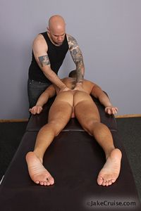 gay massage porn Pictures jasun mark massages shane frost jake cruise gay porn massage happy ending tattoos goatee shaved head tanned body muscular muscles jock sucking blowjob cum cumshot toes foot play everybody loves too