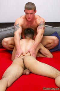 gay military porn Pictures active duty grayson loses his cherry tanner gay military porn photo