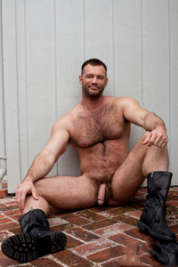gay muscle bear porn aaron cage gay hardcore porn star muscle bear hairy huge pecs bottom ass jockstrap colt studio group gruff stuff brenden fucking sucking masculine oso