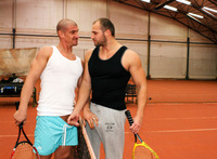 gay muscle jock porn out public tomm max bareback uncut cocks amateur gay porn muscle jocks barebacking indoor tennis court
