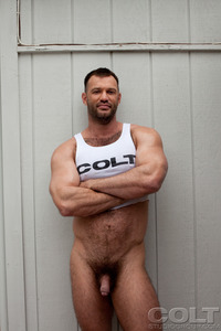 gay muscle porn stars aaron cage gay hardcore porn star muscle bear hairy huge pecs bottom ass jockstrap colt studio group gruff stuff brenden fucking sucking masculine bears xxx men
