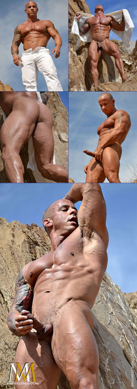 gay muscle posing bodybuilder vin marco category tattooed men