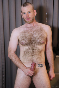 gay photo hairy blond cub lincoln shows off his hairy body gay porn solo guy woof alert