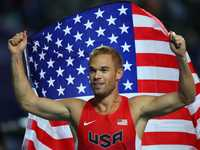 gay pictures bceab american runner dedicates moscow silver medal his gay friends amid russias anti crackdown nick symmonds criticizes laws before olympics