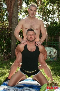 gay porn barebacking hairy raw christian matthews alex powers daddy bears barebacking outside amateur gay porn barebacks his younger friend backyard