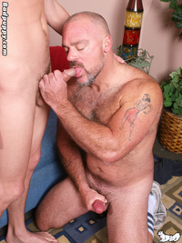 gay porn bear bronson gates william vas badpuppy older younger mature hairy muscle bear shaved head young twink smooth slim trim build tattoos fucking sucking rimming gay porn star hardcore xxx action daddy son play random question