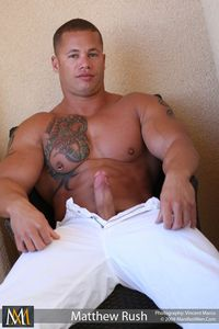 gay porn bodybuilders bodybuilder muscle hunk gay porn icon matthew rush jacks off his cock manifest men mid