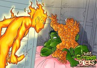 gay porn cartoon Pic cartoon dicks fantastic four