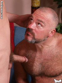 gay porn dad and twink bronson gates william vas badpuppy older younger mature hairy muscle bear shaved head young twink smooth slim trim build tattoos fucking sucking rimming gay porn star hardcore xxx action daddy son play soldier comes out