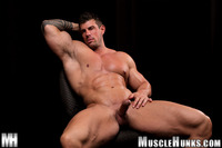 gay porn muscle hunks bodybuilder gay porn stud zeb atlas strips naked strokes his hard cock unzipped muscle hunks pic