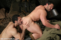 gay porn muscular hairy muscle hunk adam champ sucks cock fucks bodybuilder gay porn star vince ferelli night maneuvers from rear stable pic