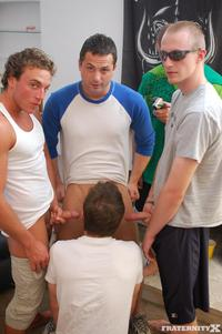gay porn Pic x beer enema fraternity dustin keg stand
