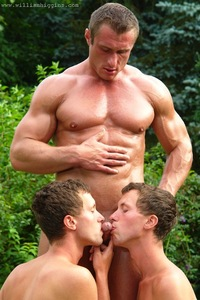 gay twins porn gay twins share rudolf scheider his uncut muscle cock fucks twink