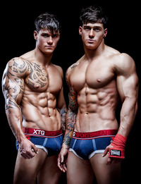 guys sexy pictures pack abs muscle tattoo twins sexy guys gym gloves fit