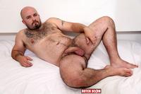 hairy gay bears porn butch dixon tommo hawk chubby hairy guy playing uncut cock amateur gay porn bear plays his thick ass