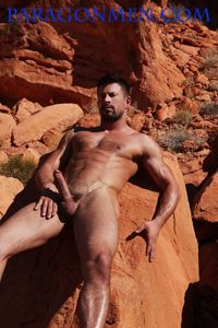 hairy naked muscle men hung hard muscle hunk kyle king gets naked jacks off his cock paragon men pic