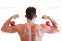 hot male body builders depositphotos athletic sexy male body builder holding red apple stock photo