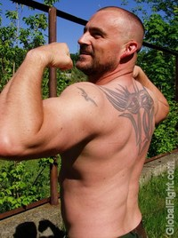 hot men in gay plog hairychest musclebears very furry daddies fuzzy studly manly men older silverdaddies gray hot gay biker flexing large biceps arms tattooed man