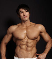 hot muscle guys chui soon hang flower boys muscle men