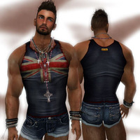 hot pics of men rgdw dirty vintage union jack flag tank sexy clothing hot men second life