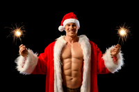 hot pics of men sexy santa one hot christmas
