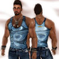 hot pics of men rgdw mithril blue tank sexy clothing hot men second life