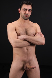 Italian gay porn fabian italian stallion scruffy horny masculine gay porn chaos men stroking cock solo dark hair needs get inside