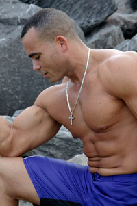 Latin naked man latin macho muscle shoreline