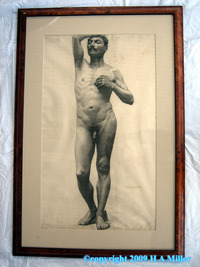 male pictures nude medium alanbrasingtonv beaux arts male nude charcoal drawing france student french