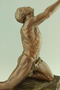 male pictures nude archivese upload colinet art deco bronze male nude furniture more collectibles bronzes claire