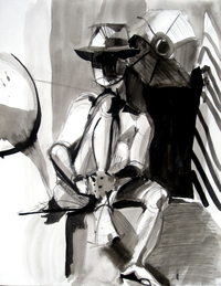 male porn dick male nude dick tracy greater ink wash fine art drawing